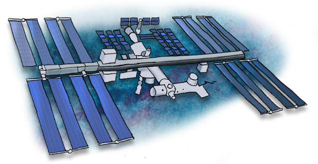 [illustration of ISS]