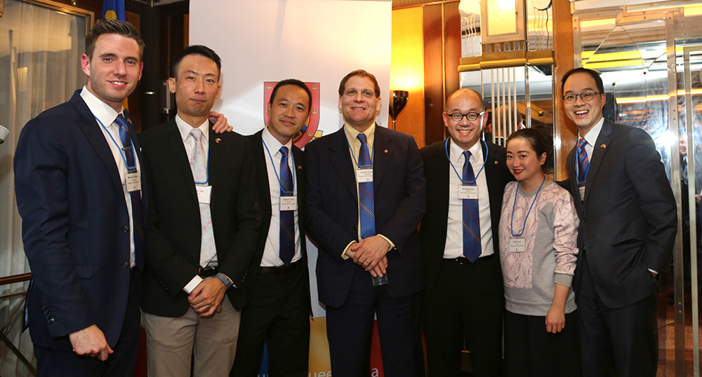 [Principal Daniel Woolf with alumni]