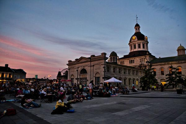 [photo of residents enjoying Movies in the Square]