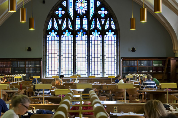 [Studying in Douglas Library]
