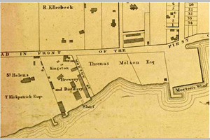 [historical image 1850 - site map]