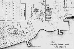 [historical image 1865 - site map]