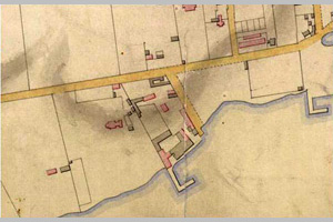 [historical image 1867 - site map]