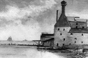 [historical image 1880-90 - drawing of brewery]