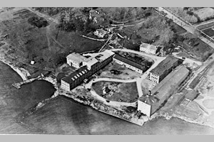 [aerial photo of military hospital on site taken by Billy Bishop 1919]
