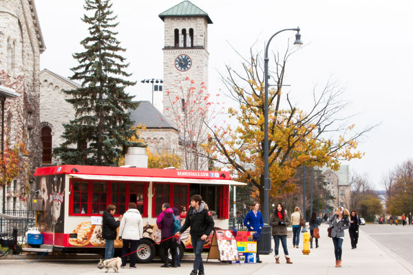 [BeaverTails truck on campus]