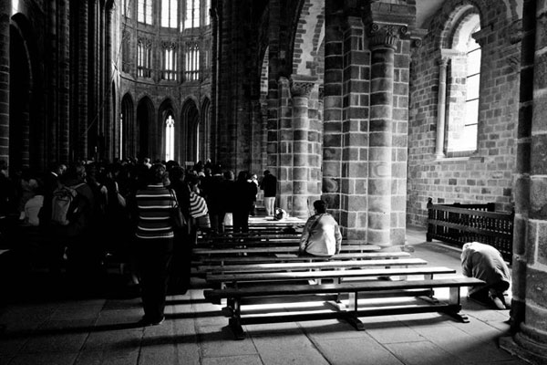[The Prayer; Le Mont Saint Michel, France. By Maria Nepomnyashchikh, 2013.]