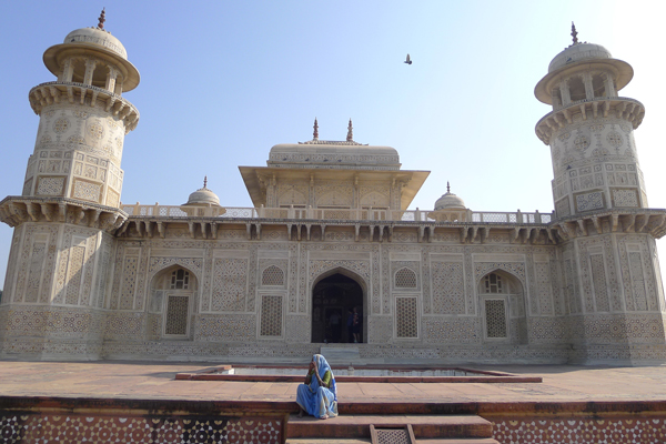 [Mausoleum at Morning by Jami Makan, Agra, India]