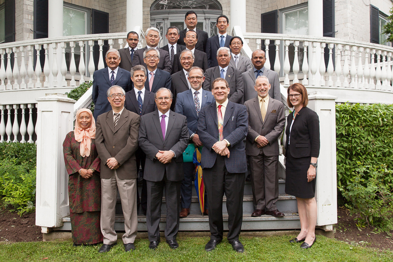 [Principal Daniel Woolf welcomed high-ranking officials to Canada from the Asia-Pacific at the annual Ambassador's Forum in June 2014.]