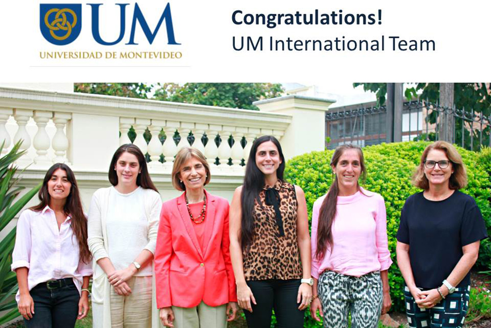 [UM International Team - Faustina, Lizzy, Luisa, Vanella, Lucía, Sarah-Jane. Photo courtesy UM Press Office]