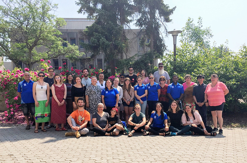 [Matariki Indigenous Student Mobility Program participants gather for the 2019 edition at Queen's University]
