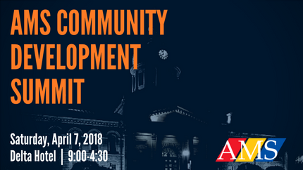[AMS Community Development Summit graphic]