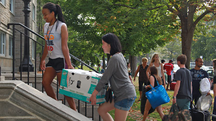 [students moving into residence]