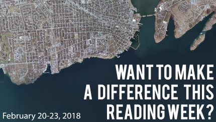 [Want to make a difference this Reading Week? February 20-23]