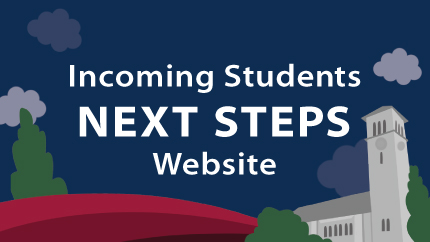 Incoming students Next Steps website.