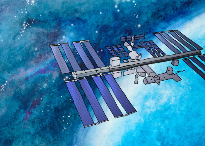 [International Space Station Illustration]