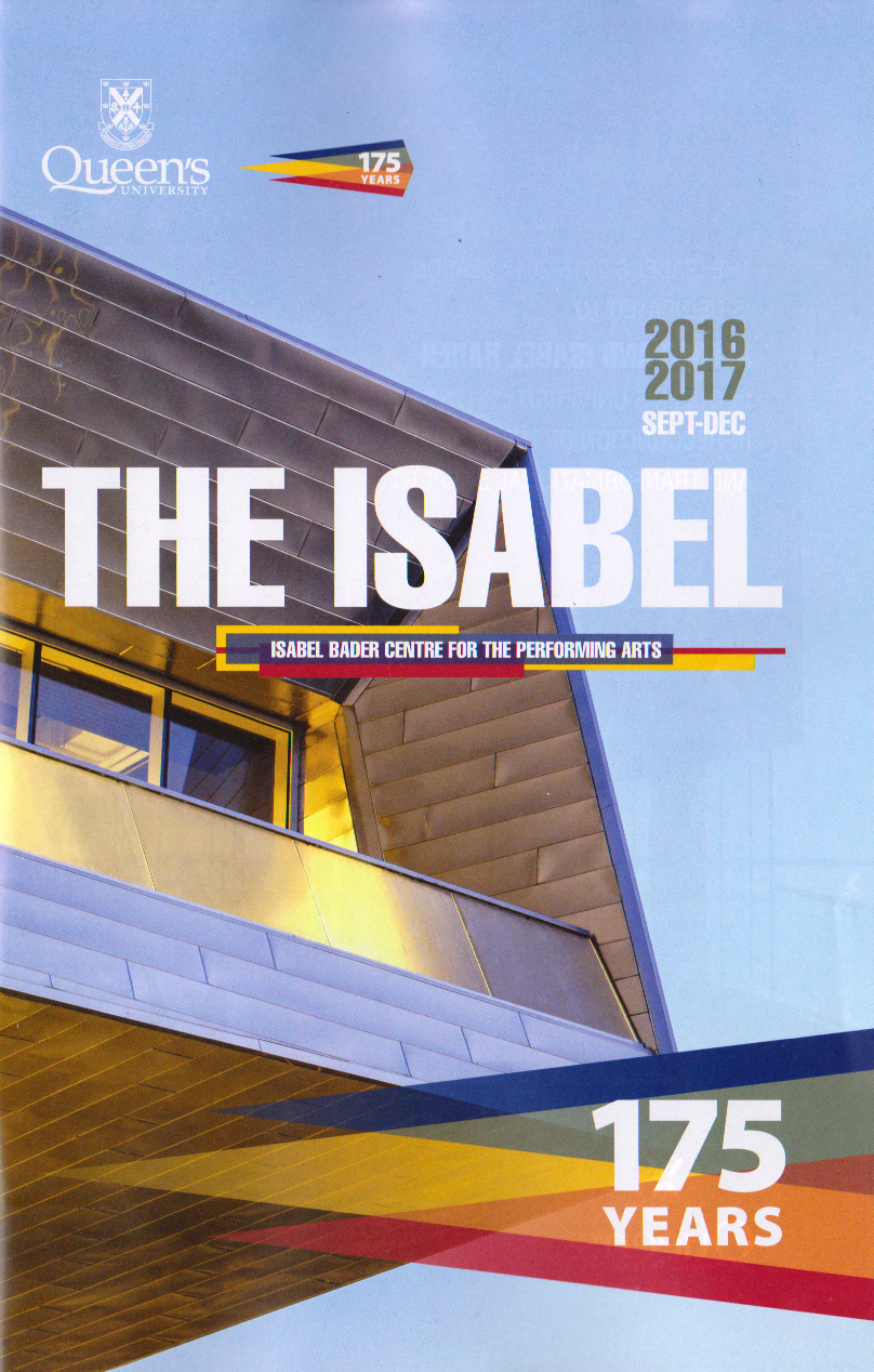 [front cover photo of the September-December Isabel Program]