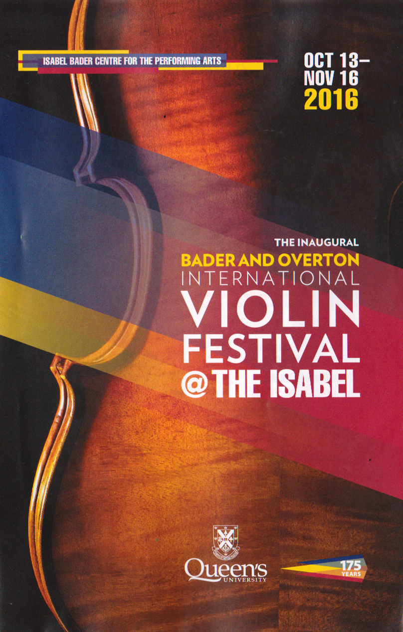 [Photo of the cover for the Violin Festival Program]
